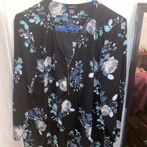Rue 21 Black floral blouse